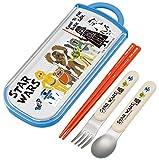 Skater Spoon Fork Chopsticks Trio Set Star Wars Paper Cut TCS1AM from Japan by Skater