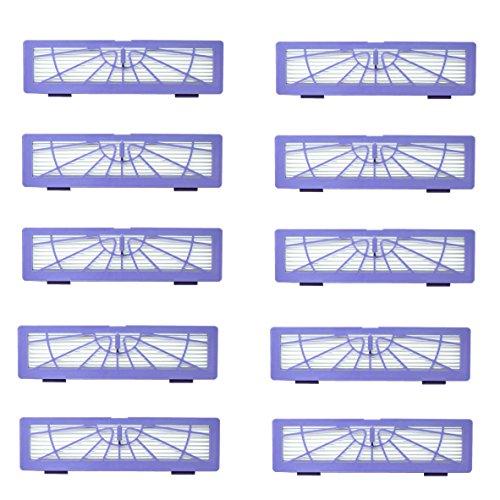 DerBlue Vakuum Zubehör für Alle Neato BotVac Serie D85-, D80, D75, 70E, D3D5Modell,-Kit Inklusive 2Seite Bürste & 8High Performance Filter, ersetzen Teil 10 Filters
