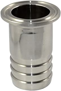 38MM 1-1/2 Sanitary Hose Barb Pipe Fitting SS316 Tri Clamp Type 50.5MM Ferrule by SUPERWHOLE