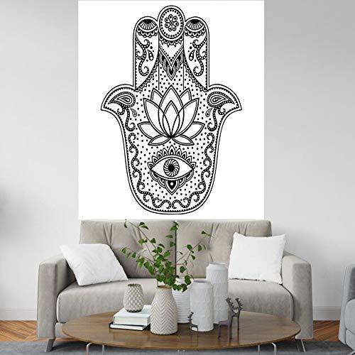 MSHTXQ Mandala Wandteppich Indische Hippie Böhmische Blumentapisserie Grau Psychedelische Wandbehang Wand Zu Dekorieren Schlafzimmer...
