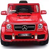 Aiya Bambini Mercedes Benz G63 patentato Bambini Giro Elettrico su Auto per Bambini Licenza Mercedes G63 con Parental Control,Red