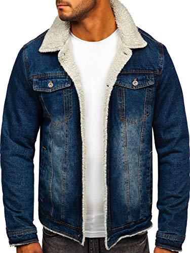 BOLF Giacca in Jeans Mezza Stagione da Uomo J.Boyz 1155 Blu M [4D4]