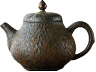 急須 バルクお茶とティーバッグケトル用セラミックティーポット手作りギルトティーポット (Color : Black, Size : 200ml)