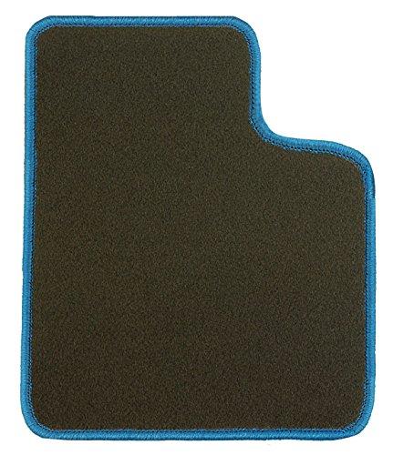 CaTex tapijt grijs met gele rand