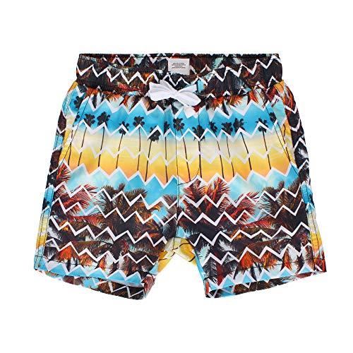 LACOFIA Pantalones Cortos de baño para niños Bañador de Playa con Cintura elástica para niños marrón 10-12 años