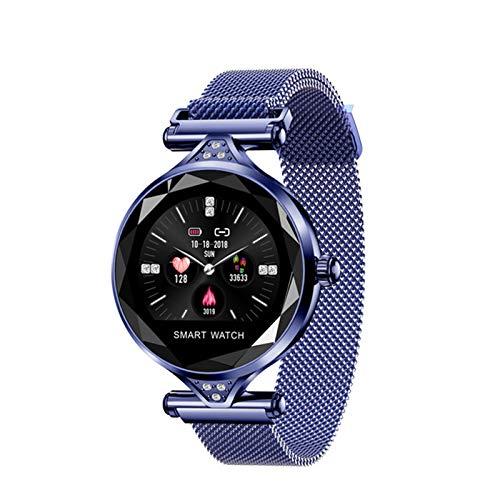 QKA Reloj Inteligente, Bluetooth A Prueba DE Agua H1 Moda para Mujer, Reloj Femenino, Monitor DE Ritmo CARTÍACO, RASTERAJE DE Ejercicios, Pulsera Inteligente Femenina,A