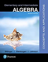 Elementary and Intermediate Algebra: Concepts and Applications (7th Edition)
