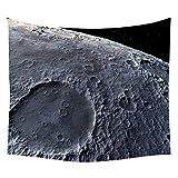 WERT Luna Diferente Superficie de la Luna Creativa Tapiz de la Superficie de la Tierra Dormitorio Familiar Sala de Estar Fondo Manta de Pared Tapiz A6 73x95cm