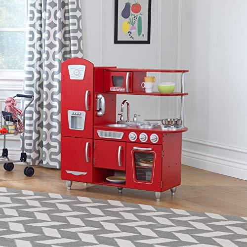 KidKraft 53173 Vintage-Spielküche aus Holz, Rot - 7