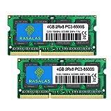 4GB×2枚 PC3-8500S 1067MHz 1066MHz ノートPC用 メモリ DDR3 8500 PC3-8500 SODIMM RAM CL7 204Pin Non-ECC