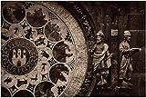 1000 piezas de Orloy, famoso reloj astronómico medieval antiguo en Praga, capital de rompecabezas de madera, rompecabezas educativos para niños, regalo de descompresión para adultos, juegos creativos