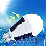 P12cheng foco de luz de emergencia, luz solar LED de emergencia, 7 W, para tienda de campaña, camping, pesca, lámpara solar recargable, color blanco puro