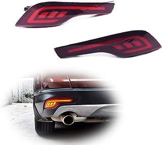 GTINTHEBOX 3D Optic Red LED Rear Bumper Reflectors Fog Brake Tail Light Lamps Kit for Honda CRV CR-V 2017 2018 2019