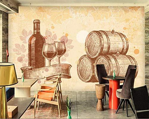 Fotomurales Mural fotográfico para la Pared fondo retro pintado a mano del vino Murales moderna de Diseno Fotográfico Sala Living Oficina de Pared decorativos-350cm×245cm