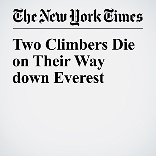 Two Climbers Die on Their Way down Everest audiobook cover art