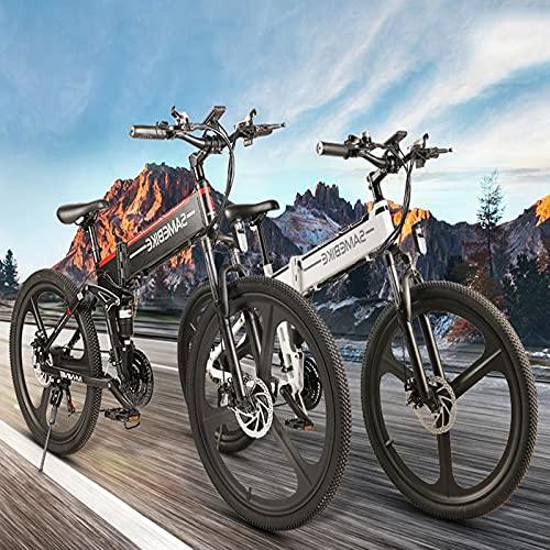 SUNWEII Bicicleta Eléctrica Bicicleta Electrica 500W Plegable Urbana EBIKE 48V 10Ah Bicicletas...