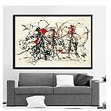 nr Gemälde Kunst Jackson Pollock Abstrakte Malerei Psychedelic Poster Und Drucke Leinwand Wandbilder Für Wohnzimmer Wohnkultur-60x90 cm Kein Rahmen