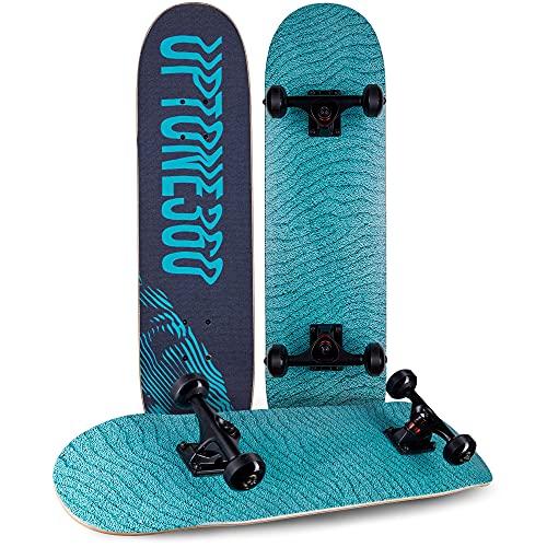 UpTone360 Skateboard | für Kinder ab 6 Jahre | Skate Board für Halfpipe & Straße | Belastbarkeit bis zu 150kg | langlebig & stabil | ideal für Kinder, Teenager & Jugendliche