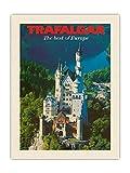 Pacifica Island Art Trafalgar Tours - Póster de viaje vintage (45,7 x 60,9 cm), diseño del castillo de Neuschwanstein de Baviera, Alemania, diseño vintage de la marca C.1970