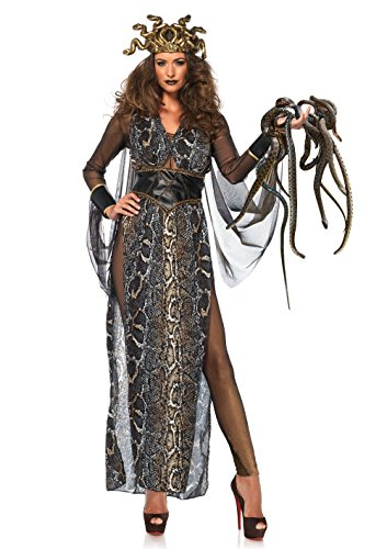 Leg Avenue-Multi-Colour Medusa Fancy Dress Costume UK 6-8, 3-Piece Mujer, Multicolor, Small (EUR34-36) (86654-10101-S-Mltclr-Mltclr-S)