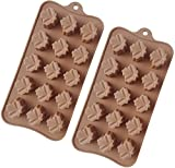TYH Supplies Set of 2 Marijuana Pot Leaf Silicone Candy Mold Trays