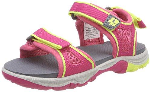 Jack Wolfskin Mädchen ACORA Beach G Sport Sandalen, Pink (Tropic Pink), 33 EU