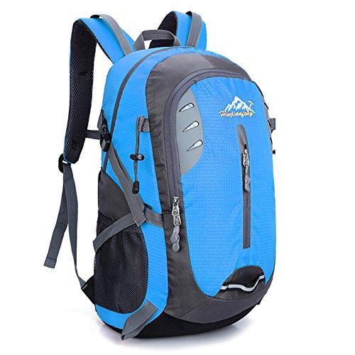 YUMOMO 40L impermeabile Zaino Escursionismo campeggio di corsa esterna zaino Sport Pack alpinismo arrampicata zaino Bag (blu)