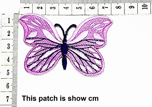 Sale!! Beautiful Butterfly Purple White Cartoon Chidren Kids Embroidren Iron Patch/Logo Sew On Patch...