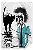 Postereck - Poster 2017 - Hipster Schaedel, Katze Punk