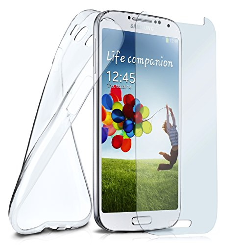 MoEx® Silikon-Hülle für Samsung Galaxy S3 Mini | + Panzerglas Set [360 Grad] Glas Schutz-Folie mit Back-Cover Transparent Handy-Hülle Samsung Galaxy S3Mini Case Slim Schutzhülle Panzerfolie