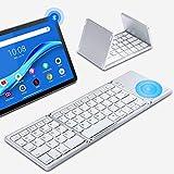 bluetoothキーボード 折り畳み 軽量 薄型 タッチパッド搭載 Ippinkan 省エネ usb充電式 機能キー 64キー英文字配列 ワンタッチ接続 Android/Windows/Mac/iOS 対応 在宅勤務 無期限保証 銀色
