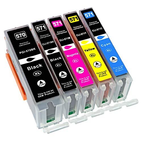 5lampada. XL Cartucce d' inchiostro per stampante Canon PIXMA ts5050ts5051ts5053ts5055ts6050ts6051ts6052TS8050ts8051ts8052ts8053ts9050ts9055
