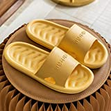 Zapatillas Casa Chanclas Sandalias Inicio Mujer Zapatillas Diapositivas para El Hogar Pareja Interior Fondo Suave Cómodas Sandalias Baño Zapatillas De Baño Hombres-Yellow_7