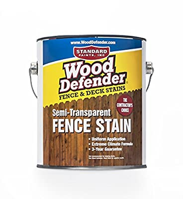 Wood Defender - Semi-Transparent Fence Stain- 1 Gallon
