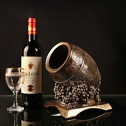 ZGQA-AOC Resina de la artesanía al por Mayor de Estante del Vino Creativo Moderno y Minimalista Estilo Vino Cubas Cuidado del Hotel Regalo (18 * 16.5 * 21cm) Delicada Hermosa