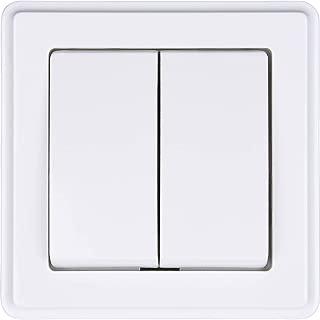 Tasterschalter Wipptaster Lichtschalter HEITECH Unterputz Taster in wei/ß Lichttaster IP20 inkl Taster 250V AC Rahmen Unterputz-Einsatz /& Abdeckung 10A UP Schalter
