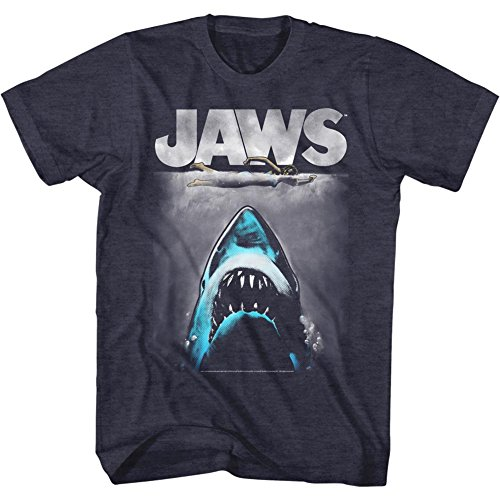 Mens Alternarive Jaws  T-Shirt, Navy Heather - S to XL