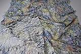 Fabrics-City KIWI/BLAU/BUNT STRETCH BAUMWOLLE SPITZE