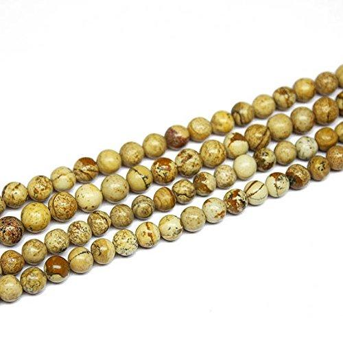 5Strand bola de jaspe imagen natural suave redondo Gemstone Craft Loose Beads 14'6