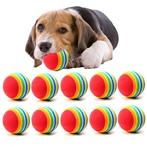 Zonfer 10pcs Nette Mini Kleiner Hund Spielzeug Für Haustiere Hunde Chew Ball-hündchen-Kugel Für Haustier-Spielzeug Welpen Tennisball-hundespielzeug-Kugel-Haustier-Produkte