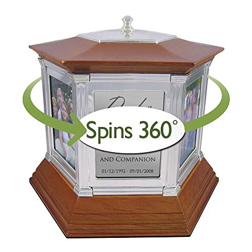 Perfect Memorials Custom Engraved Large Rotating Memories Cremation Urn