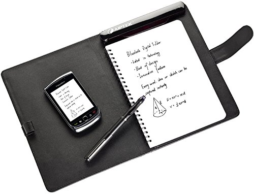 Aiptek MyNote Bluetooth Grafiktablett, digitaler A5 Notizblock mit hochwertiger Hülle aus Leder