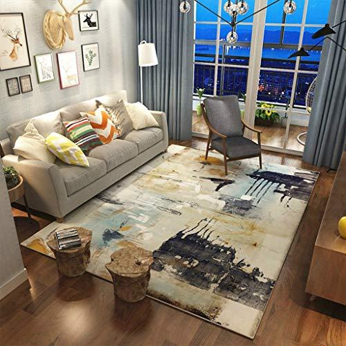 QUD Americana Noble Elegante Super Suave Zona Art Alfombra for el Cabrito Cama Sala de alfombras de Interior Anti-ácaros Antideslizante (Color : B, Size : 180x280cm)