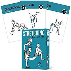 pack of stretching exercise cards fitness gift
