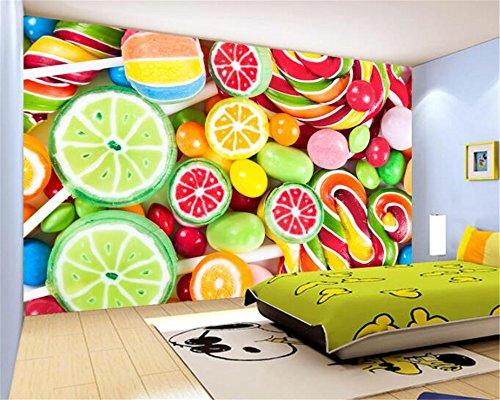 Mznm Custom Photo Wallpaper 3D Continental Wandbild Hintergrund Farbe Bonbon Bunte lollipop Candy 3D Wallpaper Gemälde 350 X 250 cm