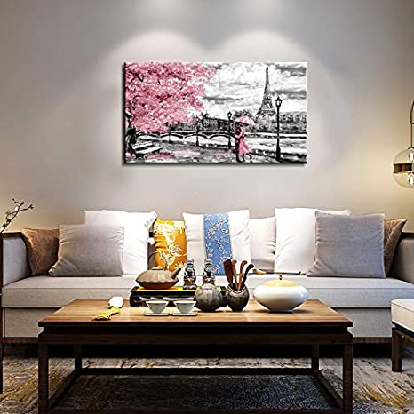 Wall Art fro Bedroom Aurora Scenery Painting on Canvas 20x40Stretched and Framed Wall Art Canvas Paintings Artwork Ready to Hang for Home Decorations Wall Decor
