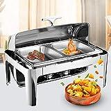 9L Profi Chafing Dish - Juego de calentador de alimentos (recipiente de acero inoxidable, 635 x 440 x 440 mm)