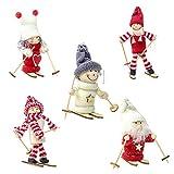 LAEMILIA 5 Stücke Mini Puppe Weihnachten Dekoration Klein Spielzeug Prop Klein Tischdeko Niedlich...