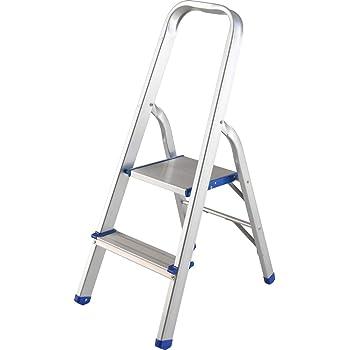 Surtek ETTA2 Surtek Escalera plegable tipo taburete de aluminio de 2 escalones, color, pack of/paquete de 1
