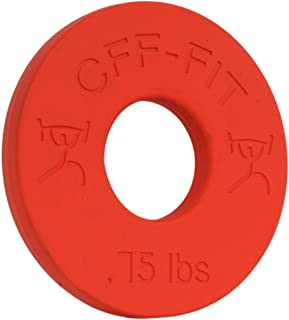 CFF 0.75 lb Competition Rubber Fractional Weight Plates - Pair